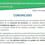 Comunicado de AUVMP sobre la IT 19/V-134
